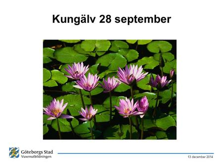 Kungälv 28 september 7 april 2017.