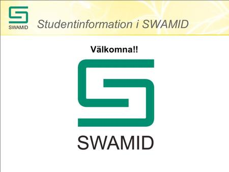 Studentinformation i SWAMID