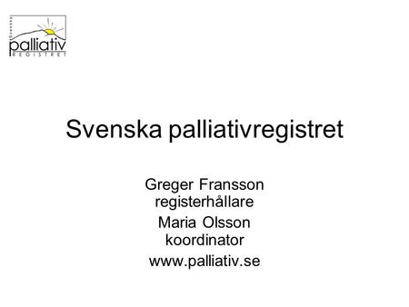 Svenska palliativregistret