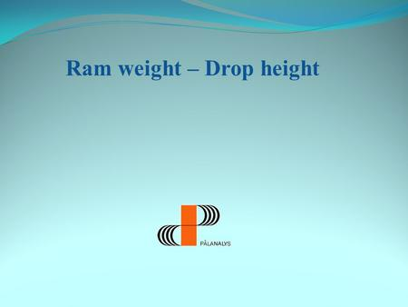 Ram weight – Drop height 500 kN´s påle The capacity of the pile is both a geotechnical and a structural issue.