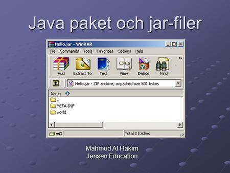 Java paket och jar-filer