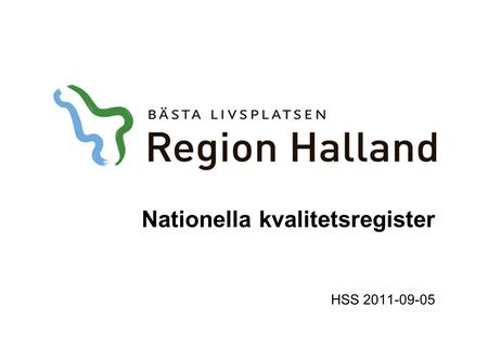 Nationella kvalitetsregister