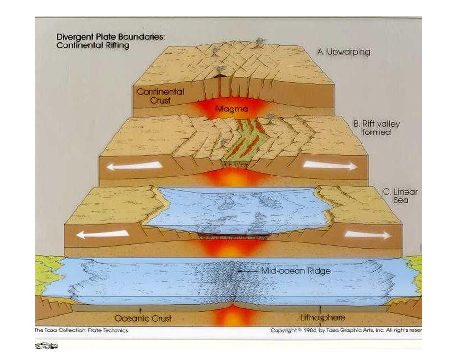Plattrörelse och interaktioner Two types of lithospheric plates –Ocean lithosphere and continental lithosphere Lithosphere floats on the asthenosphere.