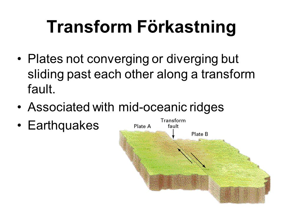 Plate Boundaries Summarized Spreading boundaries –New lithosphere is created Converging boundaries –Sea floor spreading along the axial rift –Lithosphere is being consumed – subduction –Along active continental margins Transform boundaries –Plates are moving horizontally past each other along a transform fault
