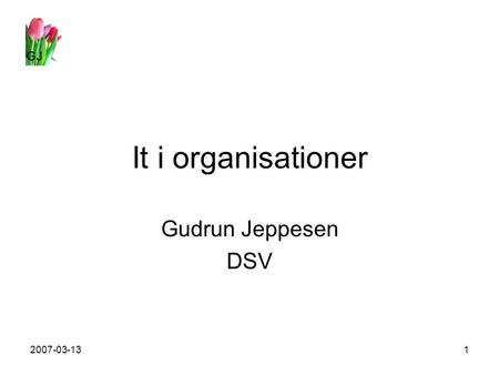 GJ 2007-03-131 It i organisationer Gudrun Jeppesen DSV.