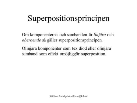 Superpositionsprincipen