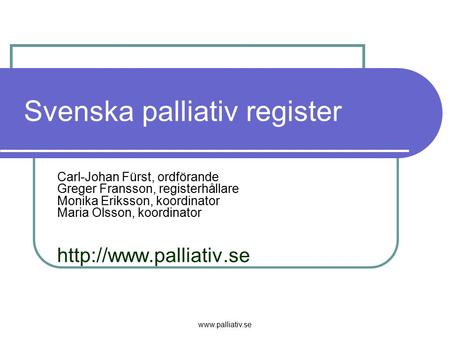 Svenska palliativ register