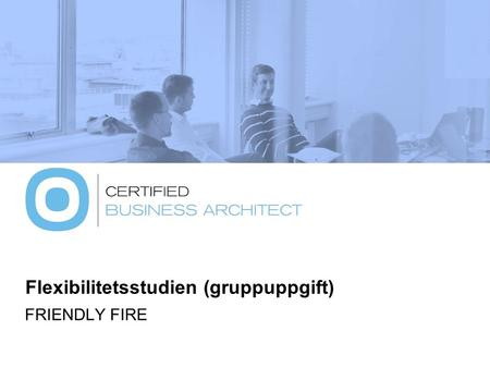 Flexibilitetsstudien (gruppuppgift) FRIENDLY FIRE.