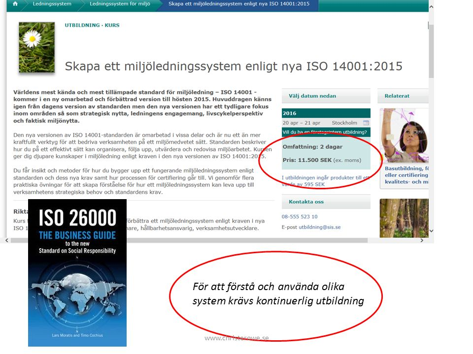 Jag tänker inte tala så mycket om: CSR, begrepp, föreningar, nyhetsbrev och nätverk WBCSD, NMC och andra nätverk Rockströms planetära gränser.