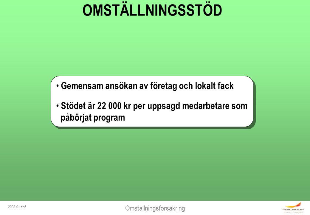 Omställningsförsäkring 2008-01 nr 6 OMSTÄLLNINGSSTÖD - vem får.