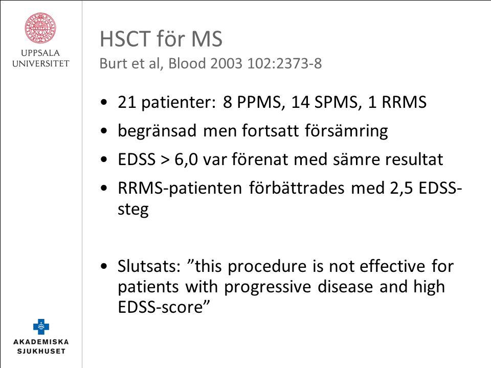 HSCT för MS Krasulova et al, Mult Scler 2010 16:685-93