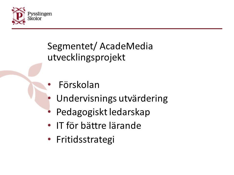 ATT uppföljningen av undervisningens kvalitet ska ske med olika perspektiv (inkl.
