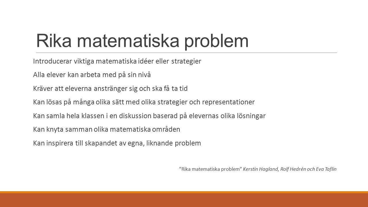 Exempel på problem
