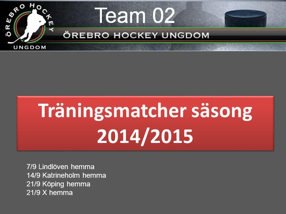 Rutiner säsong 2014/2015 Matcher  Om du får förhinder  Om du skall åka direkt  Etc Ring och meddela Lagledare för den matchen.