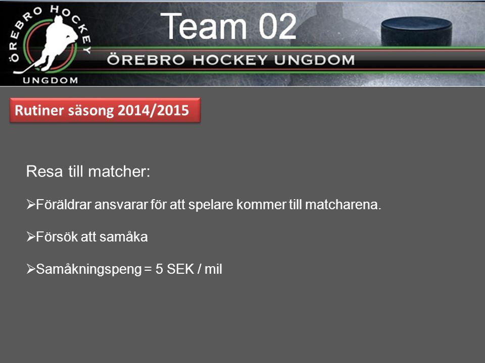 Betalning Cuper & Matcher  Match / Cup  200 SEK 1 dag cup  400 SEK 2- flera dagars cup  Betalning sker till bankgirot för Team 02.