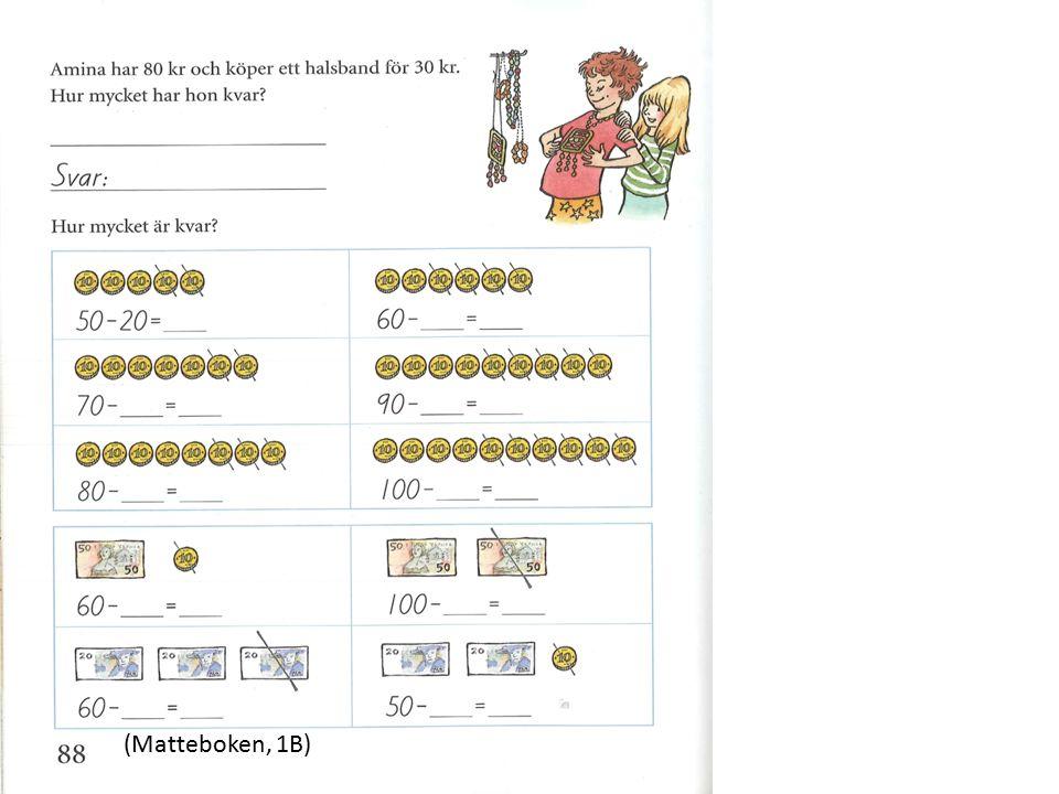Vokabulär Fack-/ämnessord som: summa, bråkdel, plats, låna, produkt, cirkel, area, prisma (Schleppegrell, s.