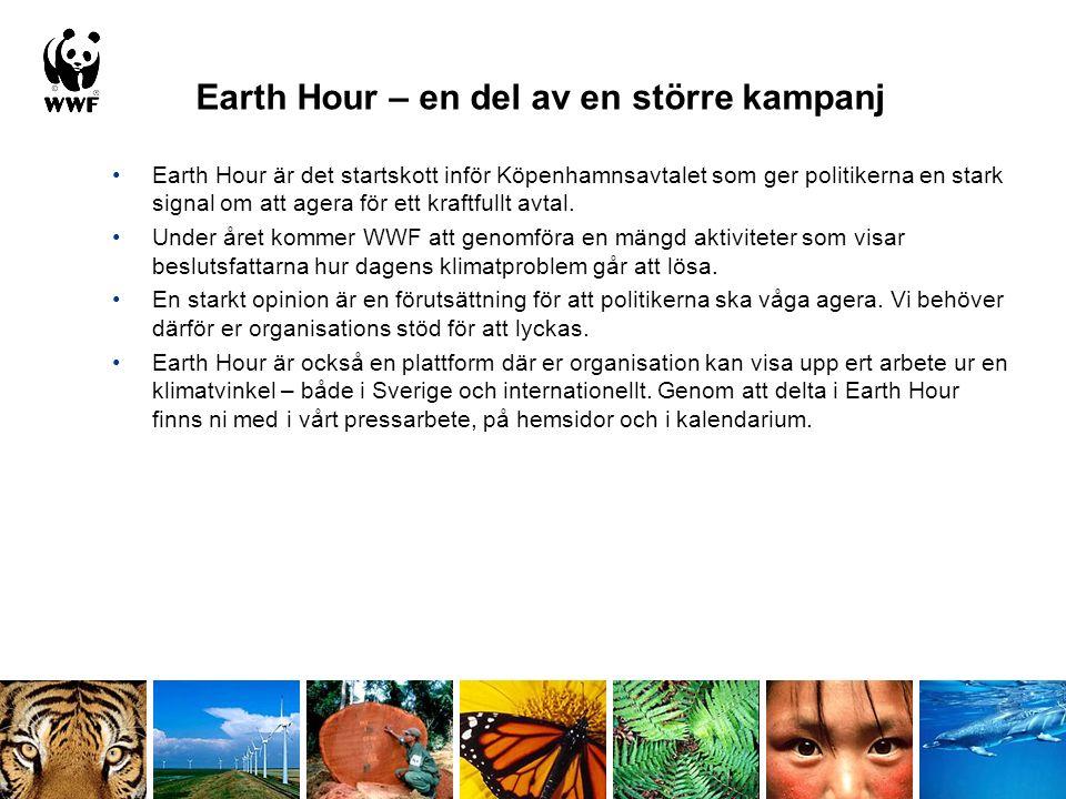 Hur kan din organisation stödja Earth Hour.