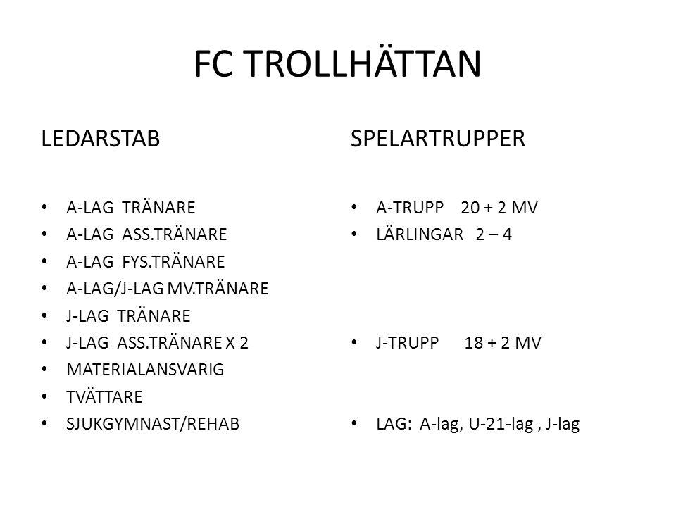 FC TROLLHÄTTAN A-LAG FÖRSÄSONG 2013