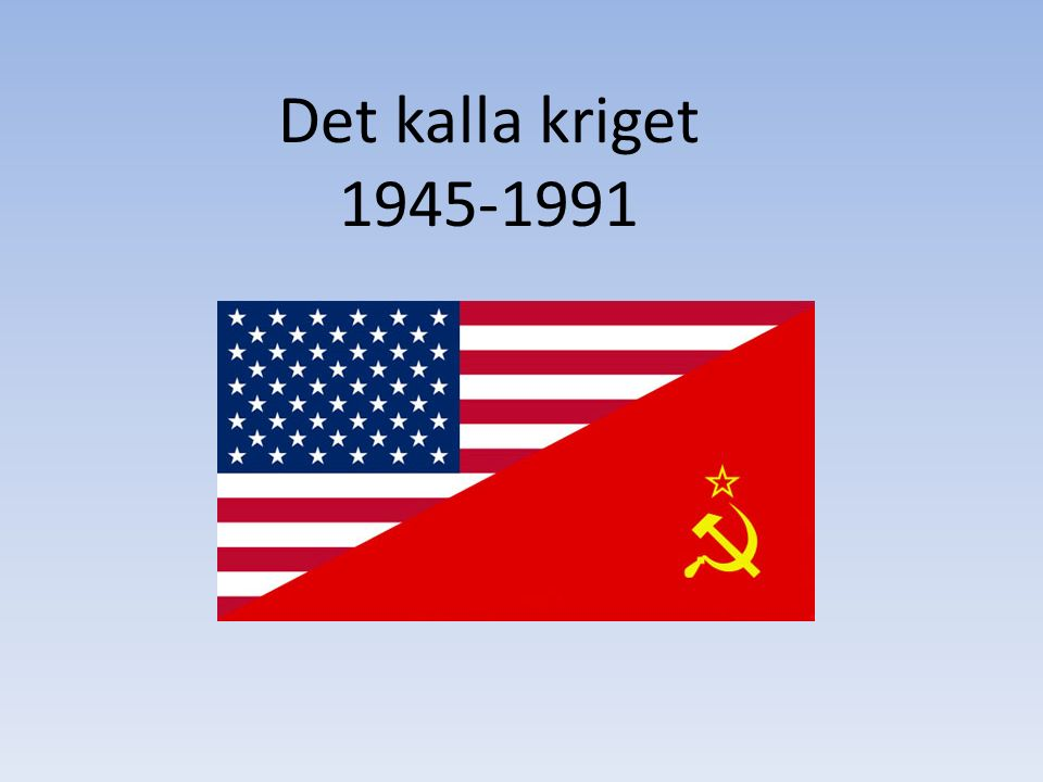 Kalla krigets karaktär Ekonomisk – USA liberalism, kapitalism med fria marknader för företag och människor att agera på.