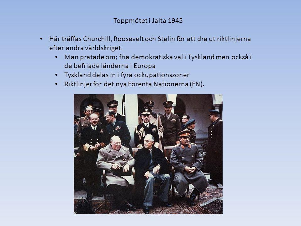 Vad gjorde USA Trumandoktrinen – USA lovar att skydda världen från kommunism.