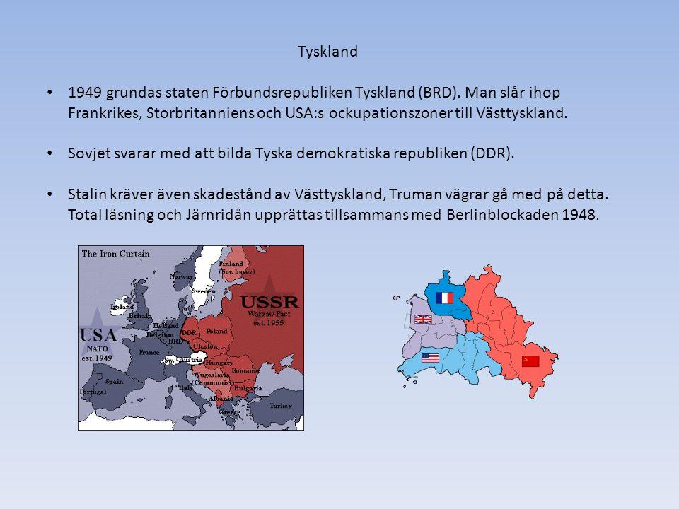 Exempel på konsekvenser av det Kalla kriget.Kommunistskräck i USA under 50-talet.