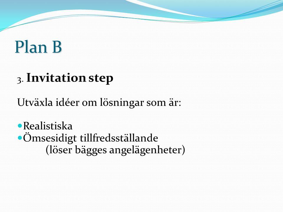 Plan B flödesschema Flödesschema på hur lösningen av problemen flyter på Har bara plats för 3 problem.
