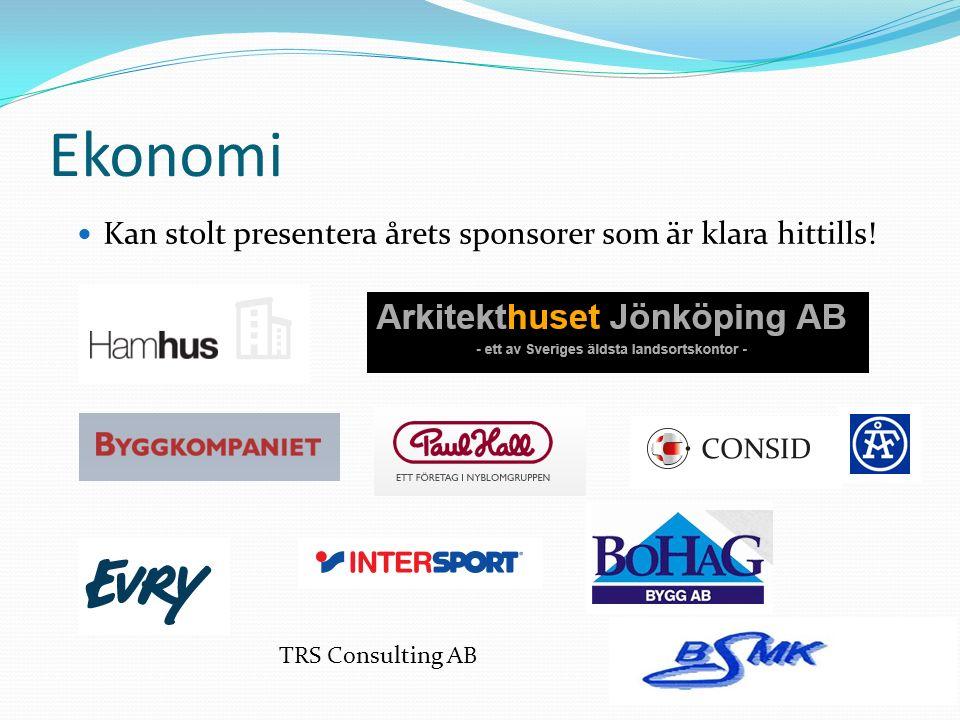 Ekonomi Inte lagt någon tid på att hitta sponsorer för året.