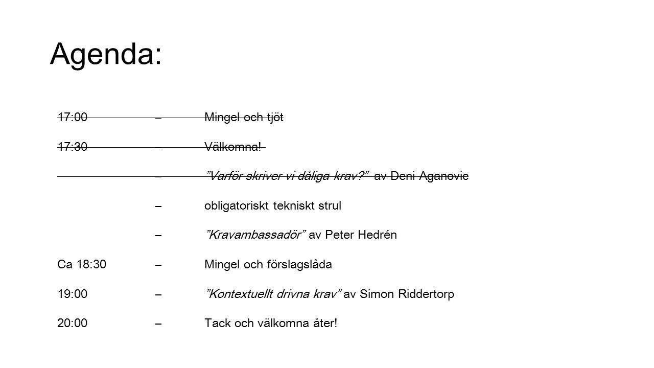Kravambassadör Peter Hedrén, ADDQ Consulting