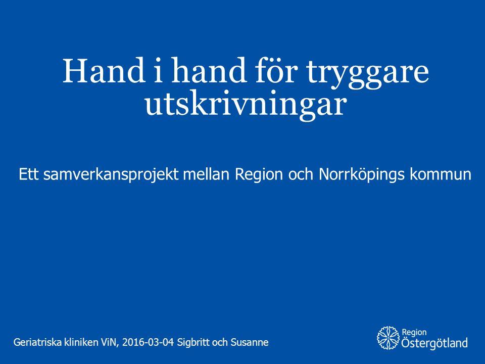 GAVA ;Geriatriska Kliniken Vrinnevisjukhuset och Norrköpings kommun 2