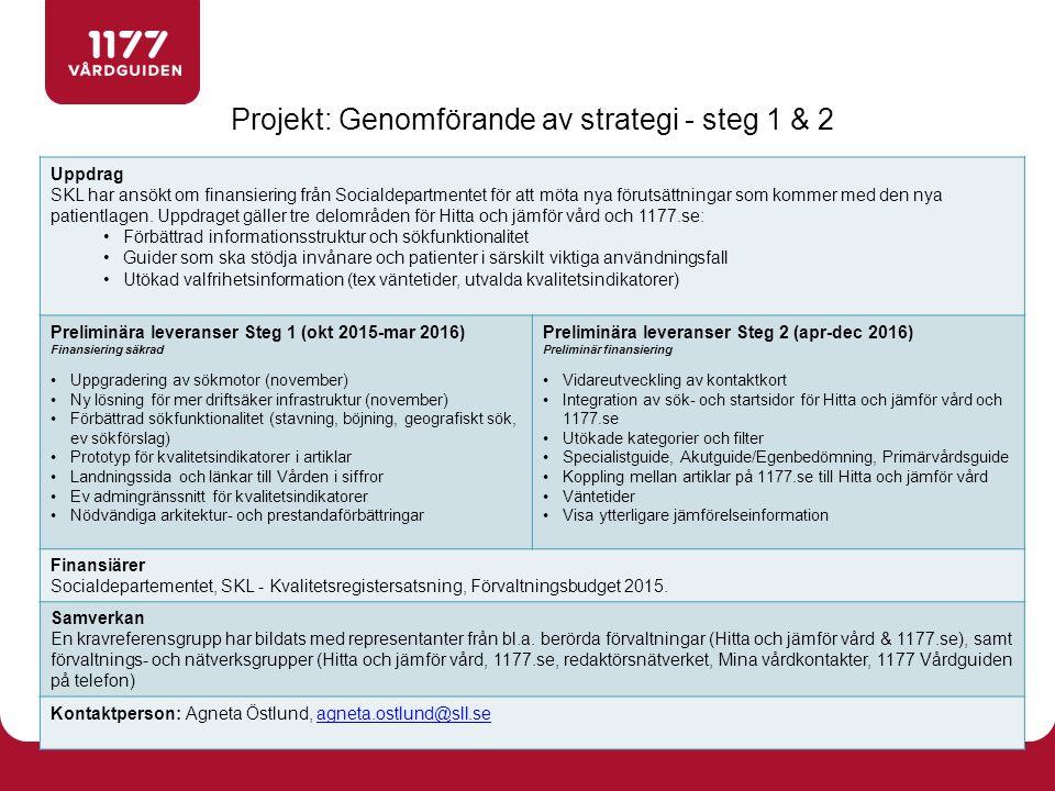 Övergripande koncept- och kravarbete pågår för projektet till och med november.