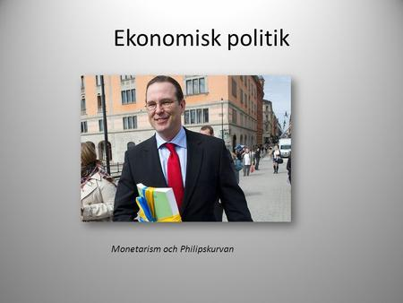 Monetarism och Philipskurvan