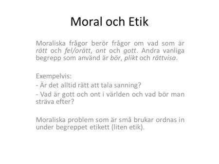 Vad betyder moral