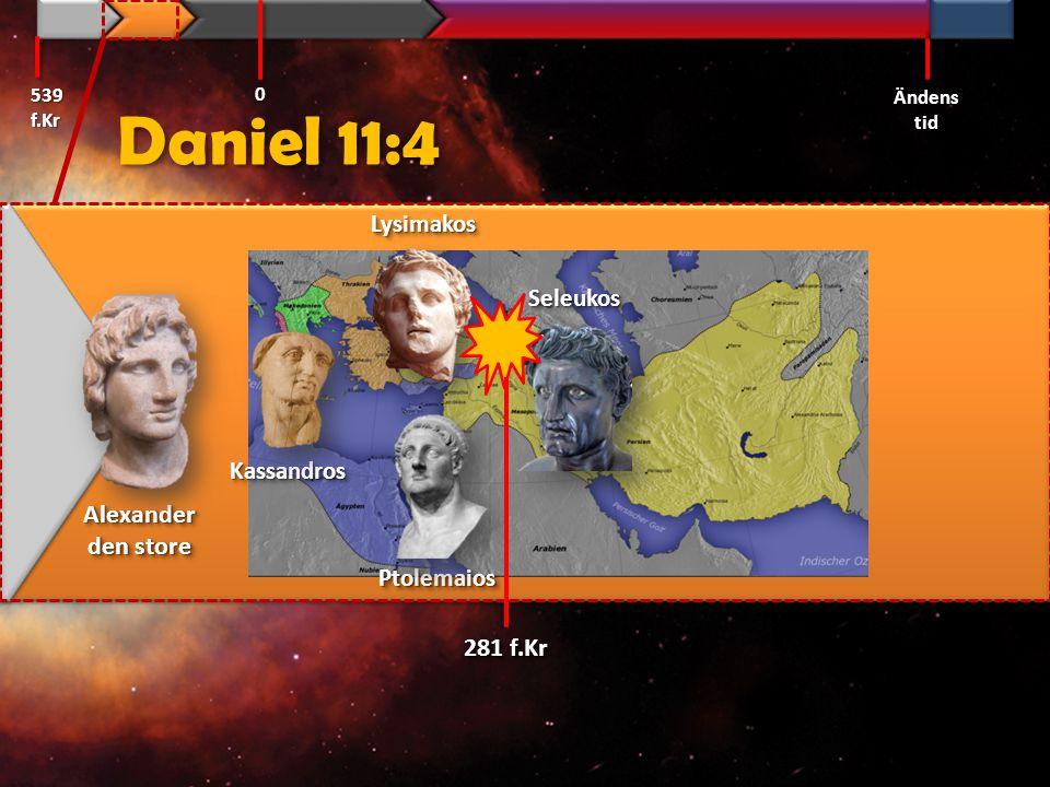 Daniel 11:6 Efter några år skall de ingå förbund med varandra och dottern till Söderlandets kung [Ptolemaios II] skall komma till kungen i Nordlandet [Antiokus II] för att träffa en överenskommelse.