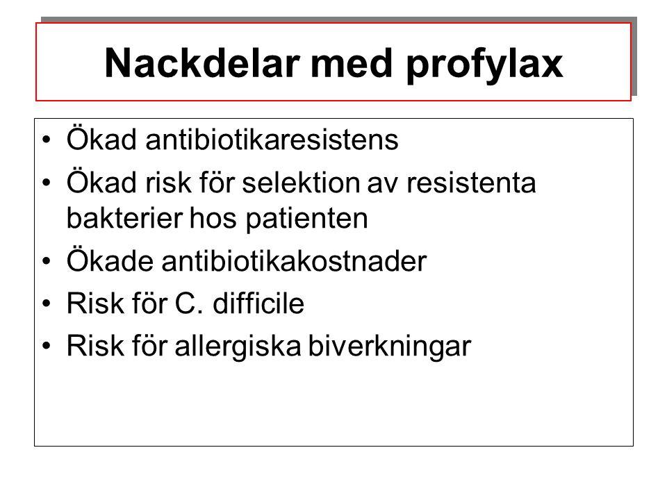 Risken för infektion beror bl a på graden av bakteriell kontamination.