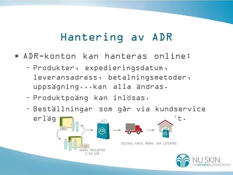 Prisjämförelse Jämför och spara på varje ADR-beställning.