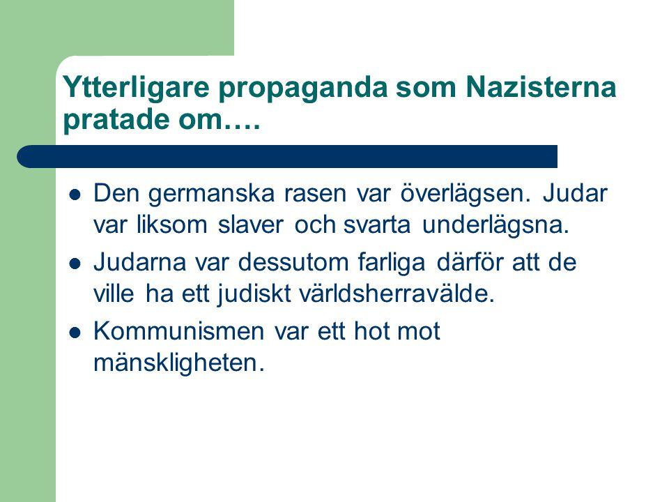 Lite mer om Hitler…..