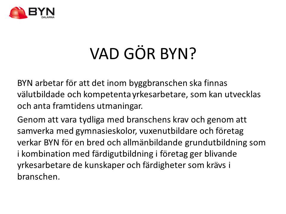VEM ÄR BYN? Sveriges Byggindustrier Byggnads Maskinentreprenörerna SEKO Väg&Ban