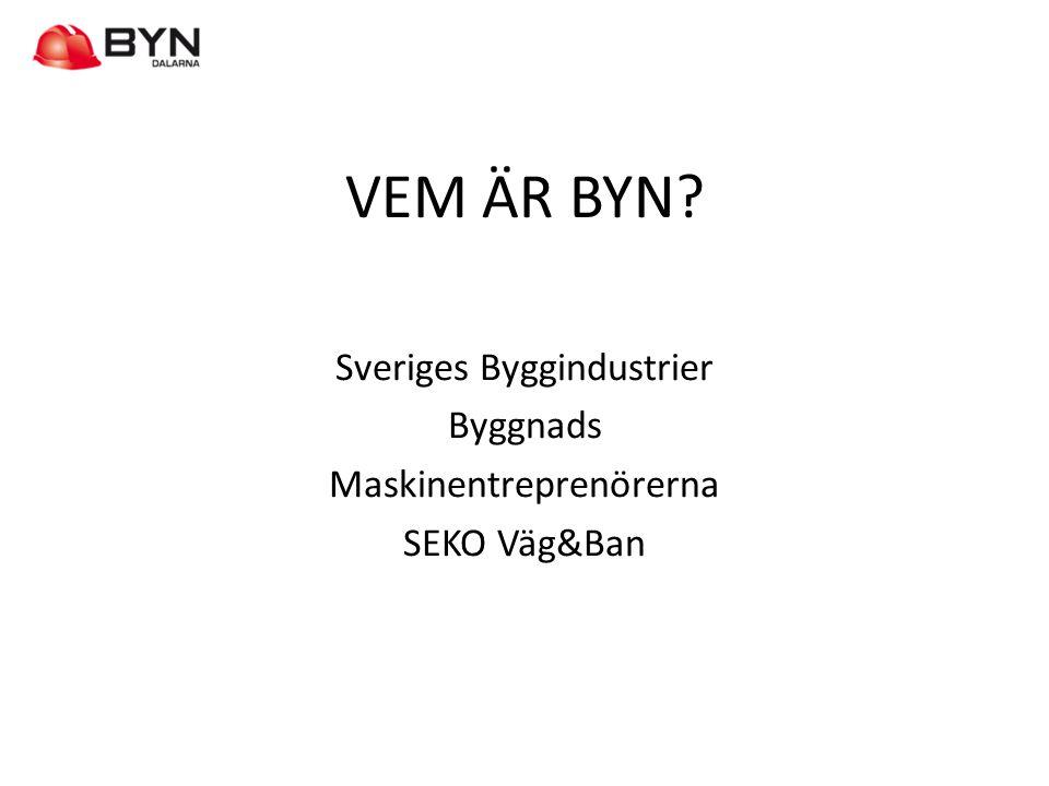 HUR JOBBAR BYN • BYNs verksamhet styrs av parternas yrkesutbildningsavtal.