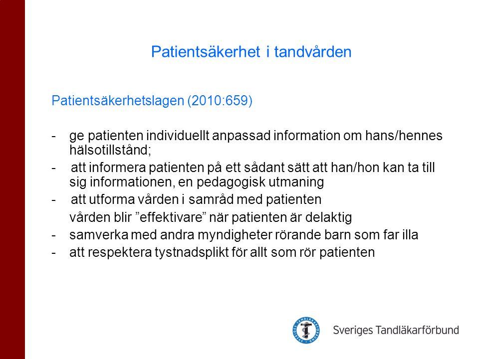 Vad är patientsäkerhet i den dagliga verksamheten.