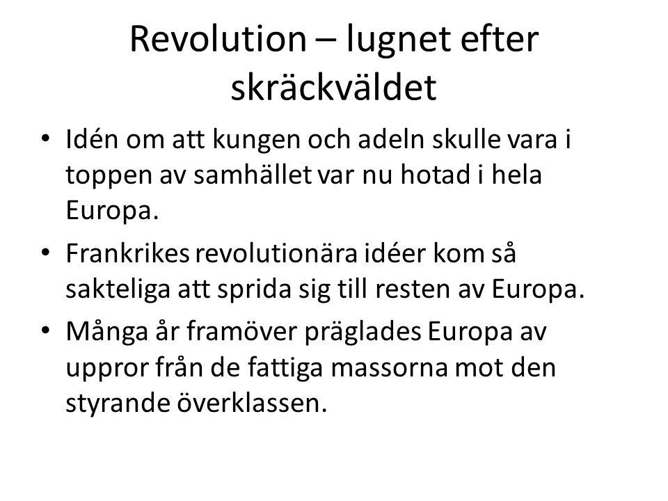 Revolution – men för vad.