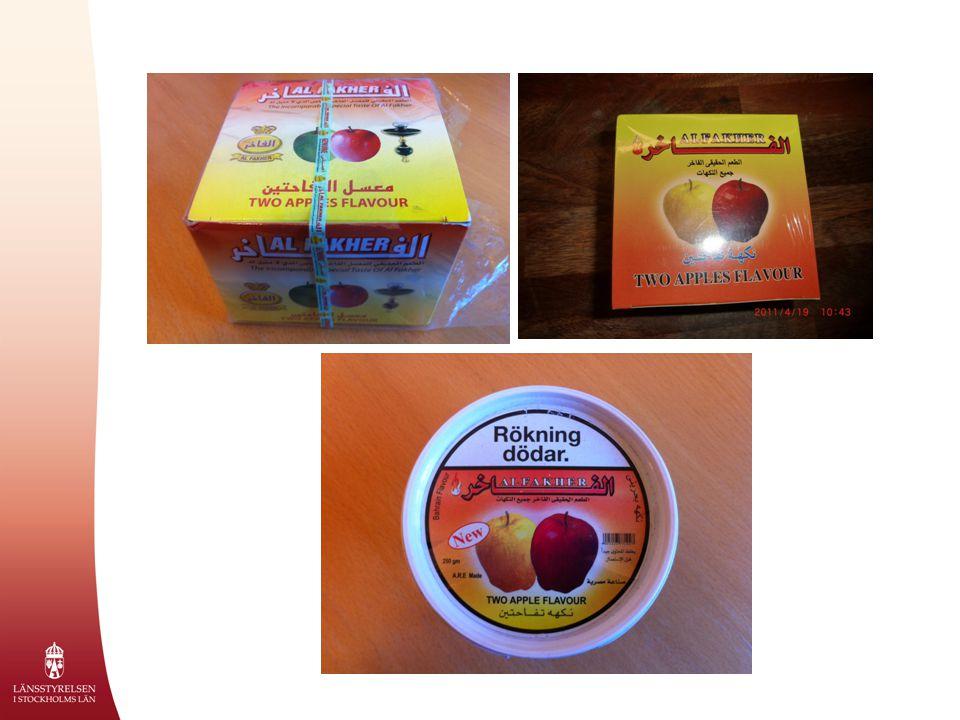 Vad innehåller vattenpipstobak  Tobak  Melass  Glycerin  Smakämnen  Färgämnen