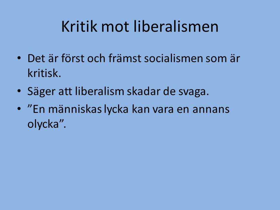 Fundera.• Är Sverige ett liberalt land. - Ge exempel.