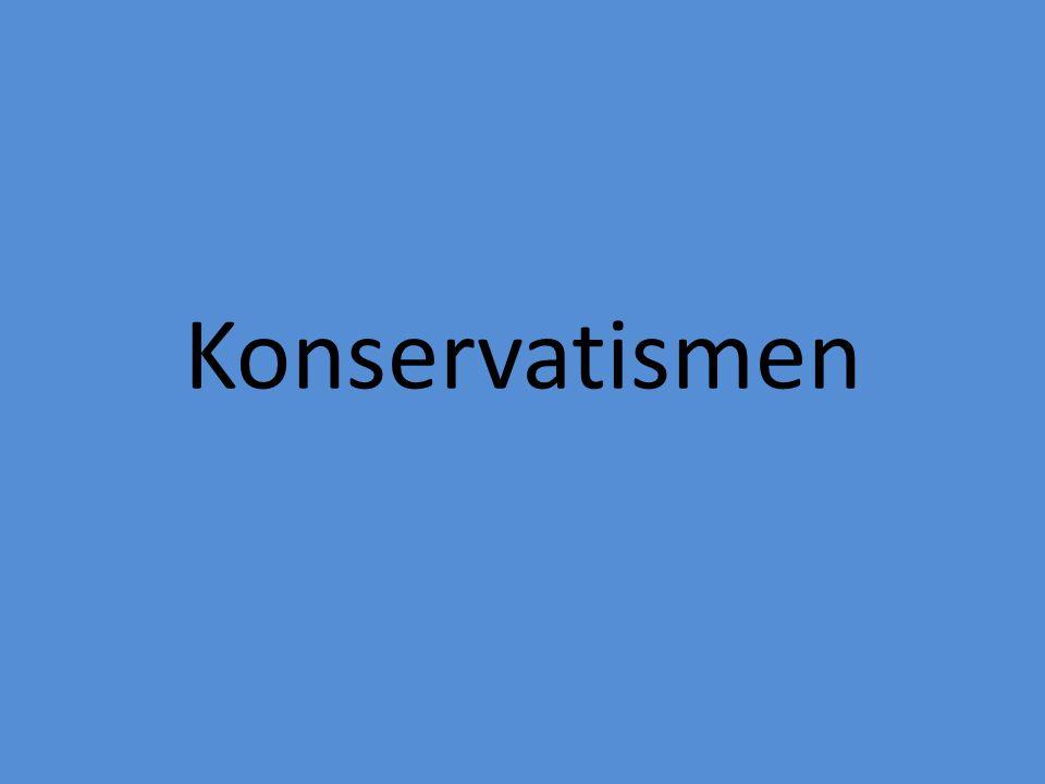 Bakgrund • Kommer från latinets conservare = bevara • Uppkom för att försvara samhället mot revolutionerna.