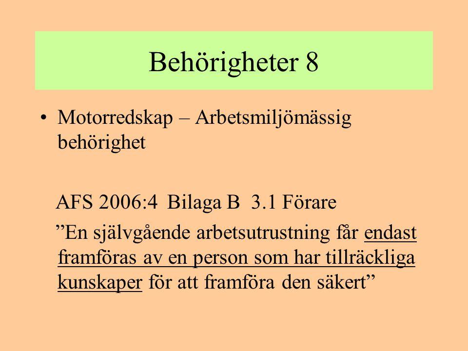 Trafikförsäkring Motorredskap klass 1: Enligt trafikskadelagen TSL är ett motor- redskap klass 1 trafikförsäkringspliktigt.