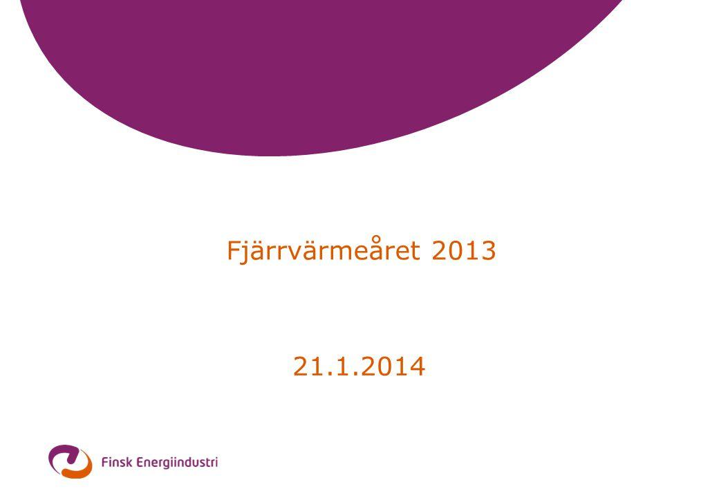 2 Fjärrvärme och -kyla 2013 •Försäljningen (inkl.skatter)2 330 mill.