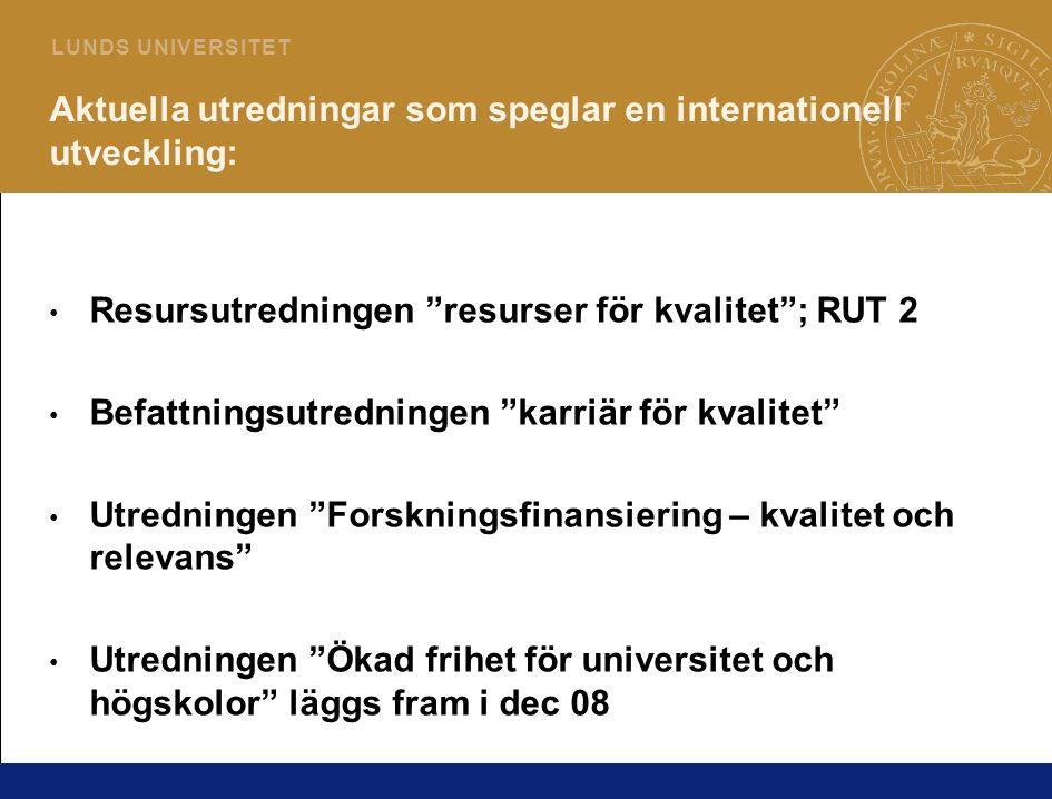 4 L U N D S U N I V E R S I T E T Framtidstidsperspektiv • Forskarna/lärarna ingår i internationella nätverk med näringsliv och internationella organisationer.