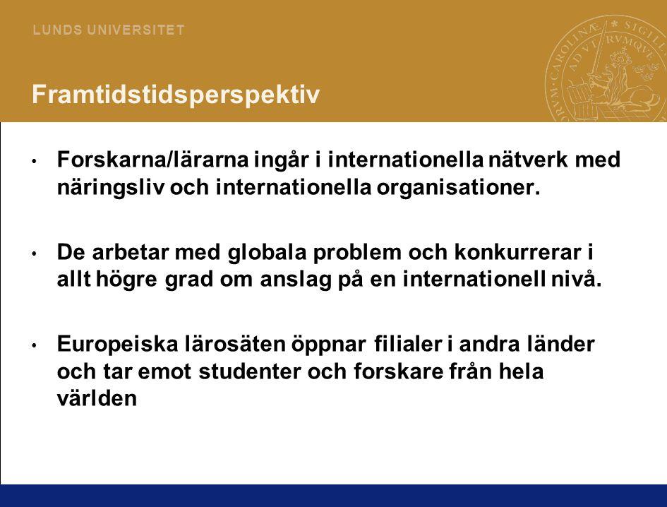 5 L U N D S U N I V E R S I T E T INNOVATION • Det bästa Sverige kan göra som kunskapsnation är att förhandla fram kunskaps- och innovationspakter mellan universitet, finansiärer och inte minst företag.