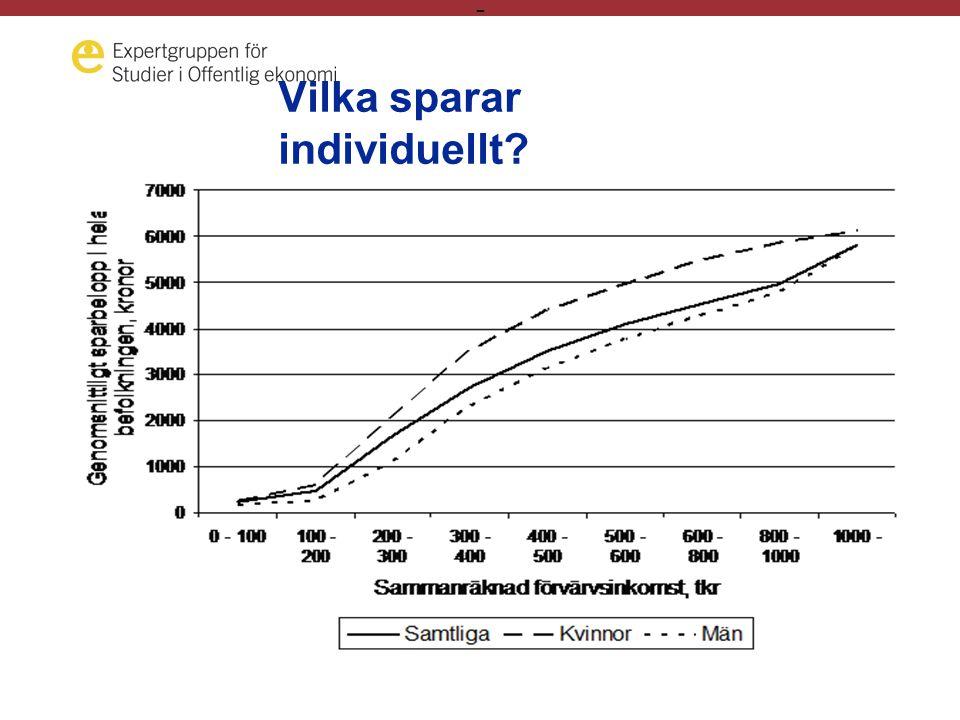 - Fördelningen av tjänstepensionerna •Proportionell upp till förmånstaket (med lika stora procentuella avsättningar) •Tjänstemännen sätter av betydigt större belopp över förmånstaken.