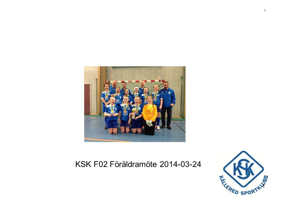 2 Agenda •Nyheter –F02 9-manna –Organisation –Talangträning •Reflektion 2013 •Målsättningar •Planering •Hemsidan/information/kommunikation •Föräldrainsats •Fotbollens väg