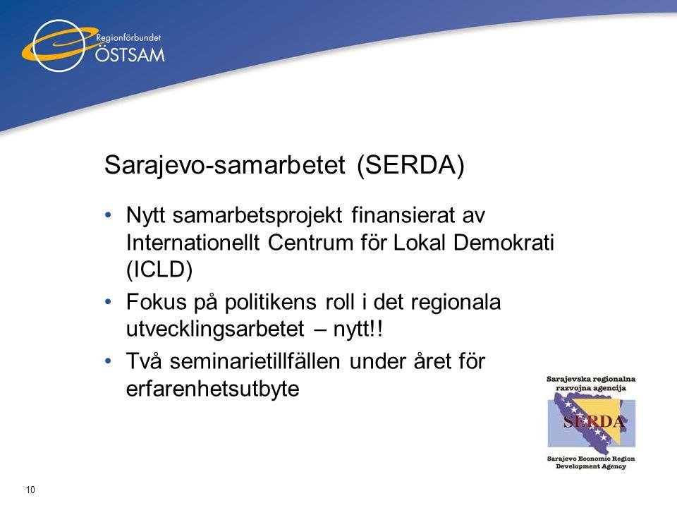 11 På gång 2010 •Open Days - Östersjösamarbetet •Nya samarbetsprojekt -Skärgårdsprojektet BACES -Folkhälsa -Integration -Kreativa näringar och attraktivitet -Livslångt lärande